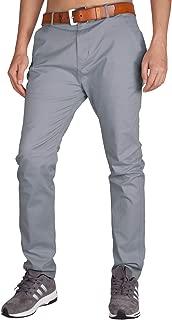 Men's Slim Fit Casual Pants Stretch Chino Khaki