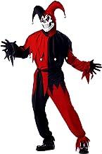 California Costumes 00746 - Disfraz De Bufón Malvado / Joker Rojo Negro Vestido Para Hombre Talla XL
