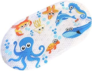FEIDOL Non Slip Baby Bath Mat with Suction Cups for Tub, Shower Anti-Slip Mat, 27 x 15 Inch Cute Pattern Design, Bathtub Mat for Kids (Upgraded)