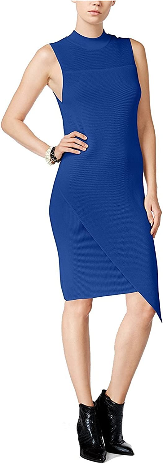 BAR III  90 Womens New 1011 bluee Textured Sleeveless Body Con Dress XL B+B