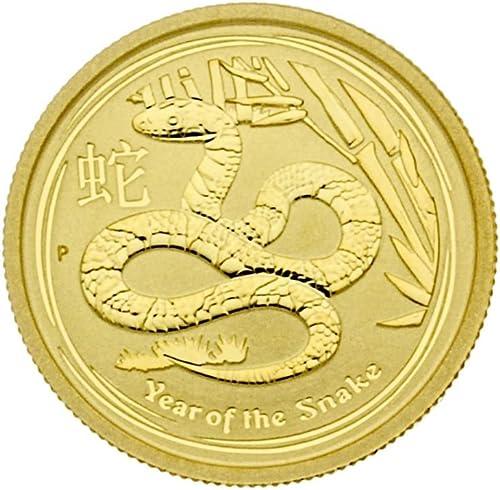 1 4 oz Australien 2013 Lunar II  Year of the Snake  (Schlange) 0,25 Unzen 999,9 Gold