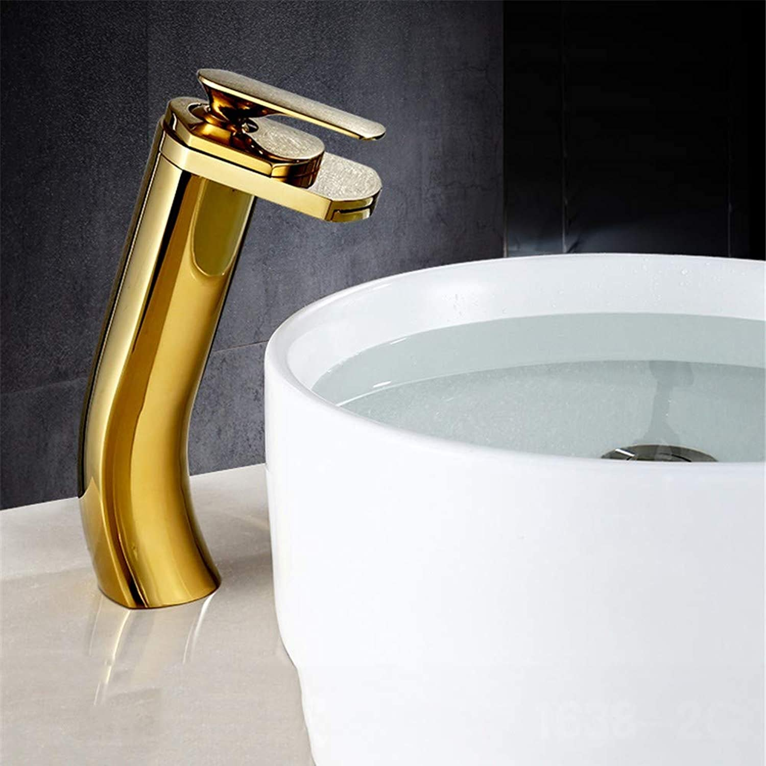 Waterfall Basin Faucet, Single Handle Faucet, All Copper hot and Cold Basin Faucet,B-Long