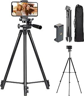 TARION スマホ三脚 アルミ合金製 385g 軽量 水準器搭載 カメラ三脚 スマホクリップ付き パノラマ 俯瞰撮影 4段階一眼レフ カメラ、andriodスマホ 、iphoneなどに適用 VT820