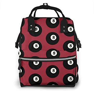 Balls On Red Large Multi-Function Travel Backpack Nappy Bag,Fashion Mummy Bag