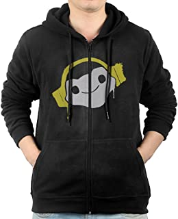 Lucio Headphones Spray Men's Full Zipper Drawstring Hoodie Kangaroo Pocket Sweatshirts