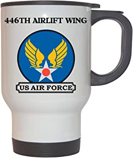 446th Airlift Wing - US Air Force White Stainless Steel Mug, 1021