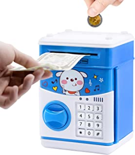 Electronic Piggy Bank, ATM Piggy Bank for Boys, ATM Money Bank for Adults with Password, Kids ATM, Educational and Fun Mini ATM Electronic Coin Bank Box for Children, Free Stickers/Screwdriver