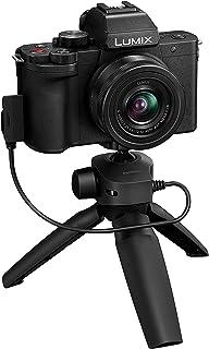 Panasonic Lumix G100 4K Mirrorless Vlogging Camera (Black) with Bluetooth Tripod Grip, Built-in Mic & 12-32mm Lens, Micro ...