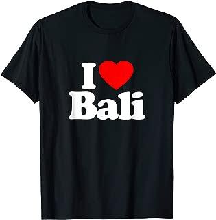 I Love Bali Heart Souvenir Funny T-Shirt