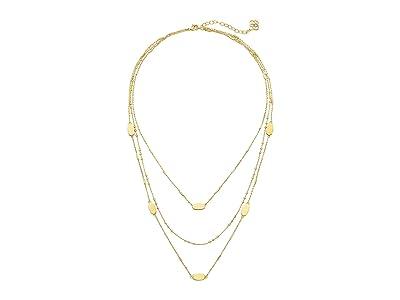 Kendra Scott Fern Triple Strand Necklace (Gold Metal) Necklace