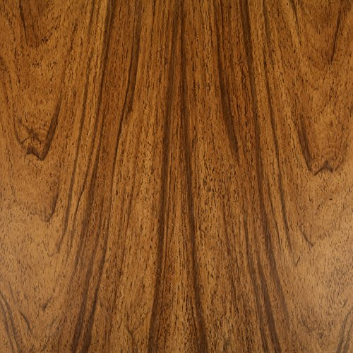 Klebefolie Holzoptik Nuss, Dekofolie, Möbelfolie, Tapeten, selbstklebende Folie, PVC, ohne Phthalate, Natur-Holzoptik, 45cm x 3m, 95µm (Stärke: 0,095 mm), Venilia 53150