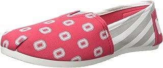 FOCO NCAA Womens College Canvas Stripe Slip On Shoes