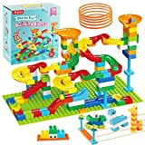 Marble Run Building Blocks, Classic Big Blocks for Kids STEM Toy Bricks Set, Marble Maze Building Toys Compatible with All Major Brands Building Brick Gift for Kids Boys Girls Toddler Age 3,4,5,6,7,8+