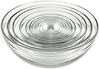 Anchor Hocking Glass Mixing Bowls, Mixed, Set of 10