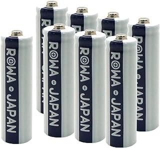 【日本規制検査済み】 ロワ ROWA 単3形充電池 1900mAh エネループを超える ニッケル水素 8本セット【1200回充電可能】【ロワジャパン】