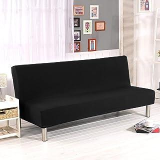 comprar comparacion Cornasee Funda de Clic-clac elástica, Cubre/Protector sofá de 3 plazas,Color sólido,Negro