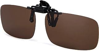 ALLO Polarized Clip-on Sunglasses for Men, Flip Up Over Prescription Glasses