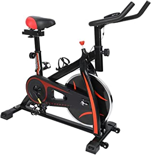 Stationary Exercise Bike, Indoor Cycling Bike with Tablet Stand & Bottle Holder, Cycle Bicycle LCD Display for Cardio Trai...