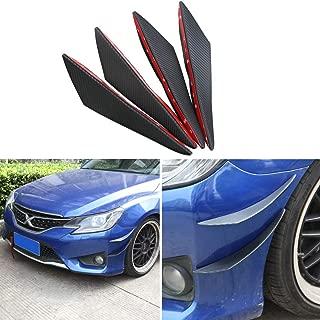 DTOUCH Racing Universal Exterior Front Bumper Lip Splitter Fins Spoiler Canards (0989A#Carbon)