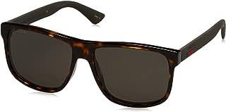 Gucci Men GG0010S 58 Tortoise/Grey Sunglasses 58mm