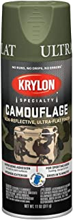 Krylon K04296000 Camouflage With Fusion For Plastic Paint Technology Aerosol Spray Paint, 11-Ounce, Camouflage Woodland Light Green