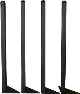 マメてりあ アイアンレッグ 角タイプ 鉄脚 サイズオーダー可能 DIY テーブル脚 4本セット (71cm)