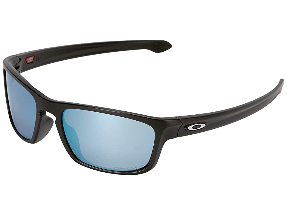 Oakley Sliver Stealth (Matte Black w/ Prizm Deep Water Polar) Sport Sunglasses