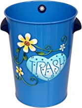 AINIYF Decorative Round Small Trash Can Wastebasket, Garbage Container Bin for Bathrooms, Powder Rooms, Kitchens, Home Off...