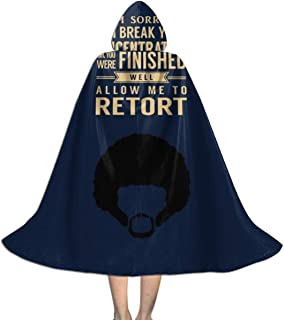 Pulp Fiction Jules Quote Movie Silhouette Unisex Hooded Cloak Cape Halloween Party Decoration Role Cosplay Costumes Black