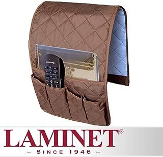 LAMINET Fabric Sofa Arm Chair Organizer - Brown