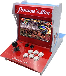 Tongmisi Pandora's Box 9 Mini Bartop Arcade Machine Box Jamma 1500 in 1 Table Top Video Game Console with 2 Player Controller Joystick Button