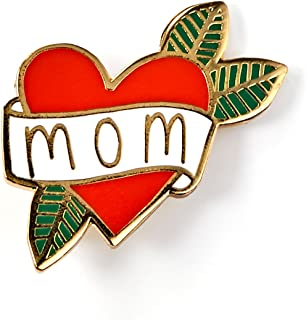 Mom Heart Tattoo Enamel Pin