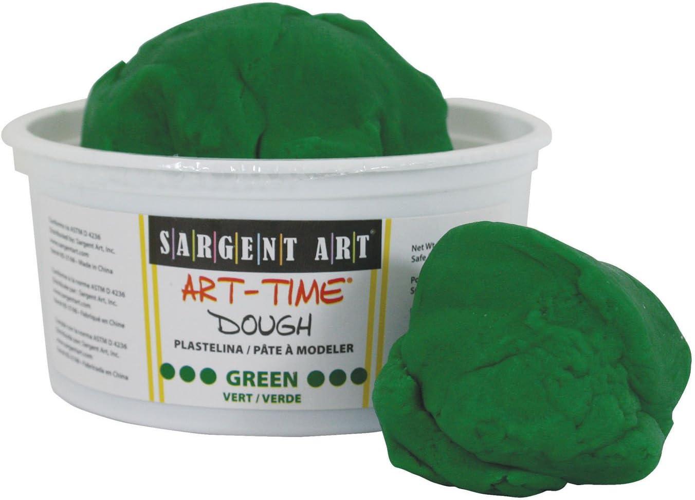 Sargent Art 85-3166 1-Pound Mail order cheap Boston Mall Art-Time Dough Green