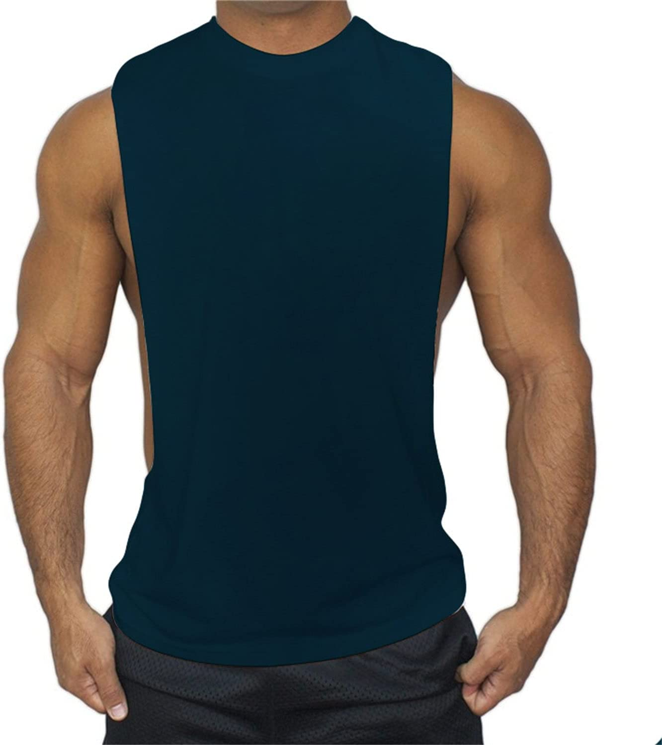 Men's Gym Tank Top Muscle Workout Fort Worth Mall Tees L Sleeveless Mail order Bodybuilding