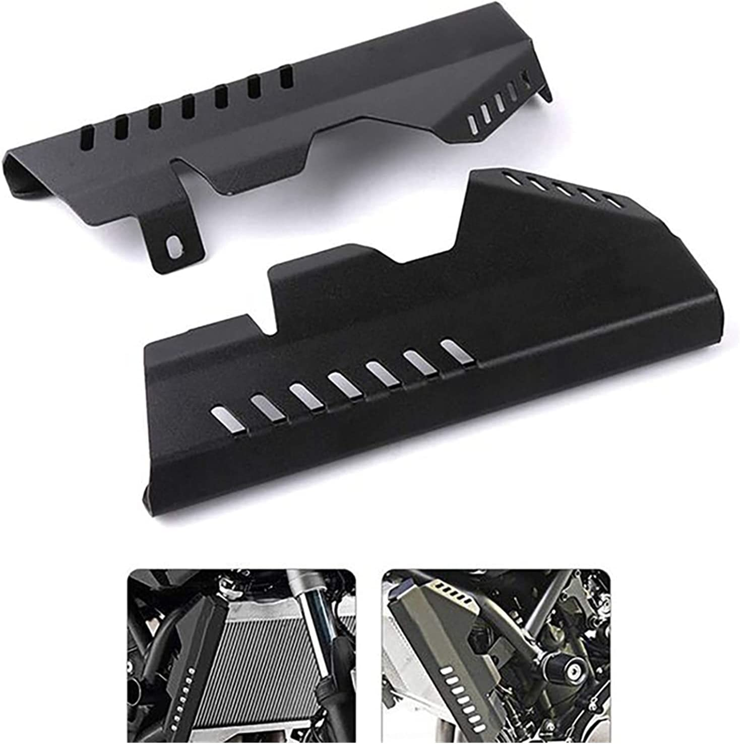 XINLIN Ruderude Motorcycle Side Radiator Grille Cover Guard Protector Fit For Yamaha MT07 MT-07 FZ MT 07 FZ07 FZ-07 2013-2017 Color : Black