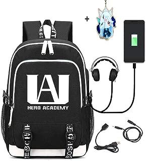 Anime My Hero Academia Cosplay Laptop Bag Luminous Backpack Fashion Bookbag