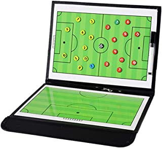 Football Coaching Board Coaches Clipboard Tactical Magnetic Board Kit with Dry Erase, Marker Pen and Zipper Bag (Football ...