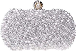 BIGBOBA Damen Clutch Bag Perle Dekoration Abendtasche glänzend Clutch Bag Braut Tasche Hochzeit Clutch Bag für Hochzeit, P...