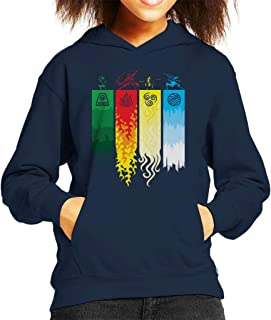 Element Symbols Avatar The Last Airbender Kid's Hooded Sweatshirt