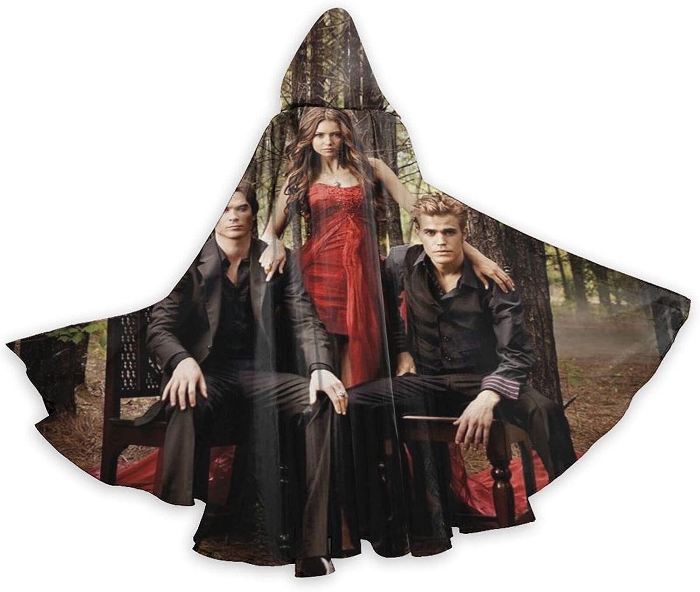 Unisex Vam-pire Direct sale of manufacturer Diaries depot Hooded Halloween Cospl Cloak Robe Wizard