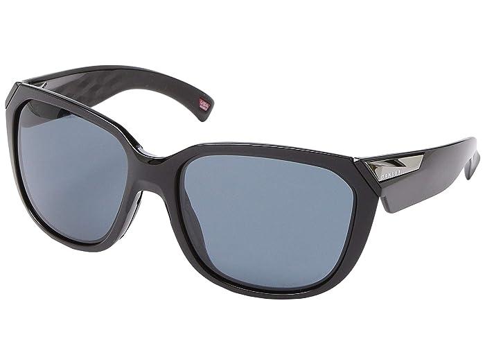 Oakley 59 mm Rev Up (Polished Black) Fashion Sunglasses