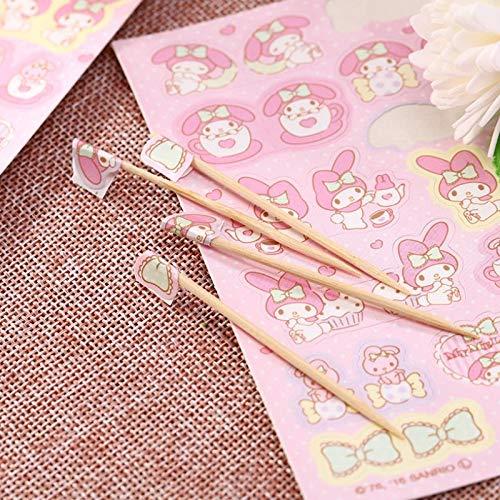 BLOUR 2 Hojas/Bolsa Nuevo Lindo My Melody Cinnamoroll Perro Estrellas gemelas Diario Etiqueta Pegatinas DIY Scrapbooking Pegatina Juguetes Regalo