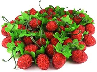 GuCra Artificial Fruit, Raspberry (Normal-Type) 50 pcs Pack, Fruit Model (Red)