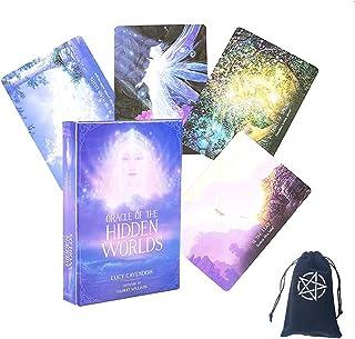 Oracle av de dolda världens tarotkort, med sammetlagringspåse,Oracle Of The Hidden Worlds tarot Cards,tarot cards deck game