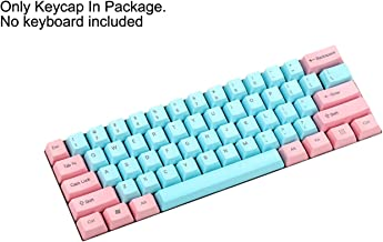 NPKC 61 87 104 Keys Miami Thick PBT OEM Profile Keycap for MX Switches GH60 Tenkeyless Mechanical Gaming Keyboard (Only Keycap) (61 Top Print)