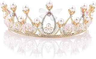 Dongyu Accessori for Capelli Parrucchieri Corona, Strass Matrimonio Fascia da Sposa Tiara Festa
