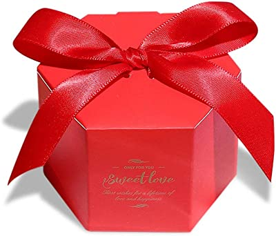 Lvcky 30Pcs Hexagonal Wedding Candy Boxes Sweet Love Chocolate Gift Bonbonniere Party Birthday Decor Baby Shower