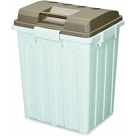 トンボ ゴミ箱 70L 日本製 フタ付き ハンドル付 連結 ブラウン ハンドルペール 新輝合成