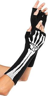 Leg Avenue Women's Skeleton Fingerless Gloves