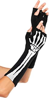 Leg Avenue Women's Skeleton Fingerless Gloves